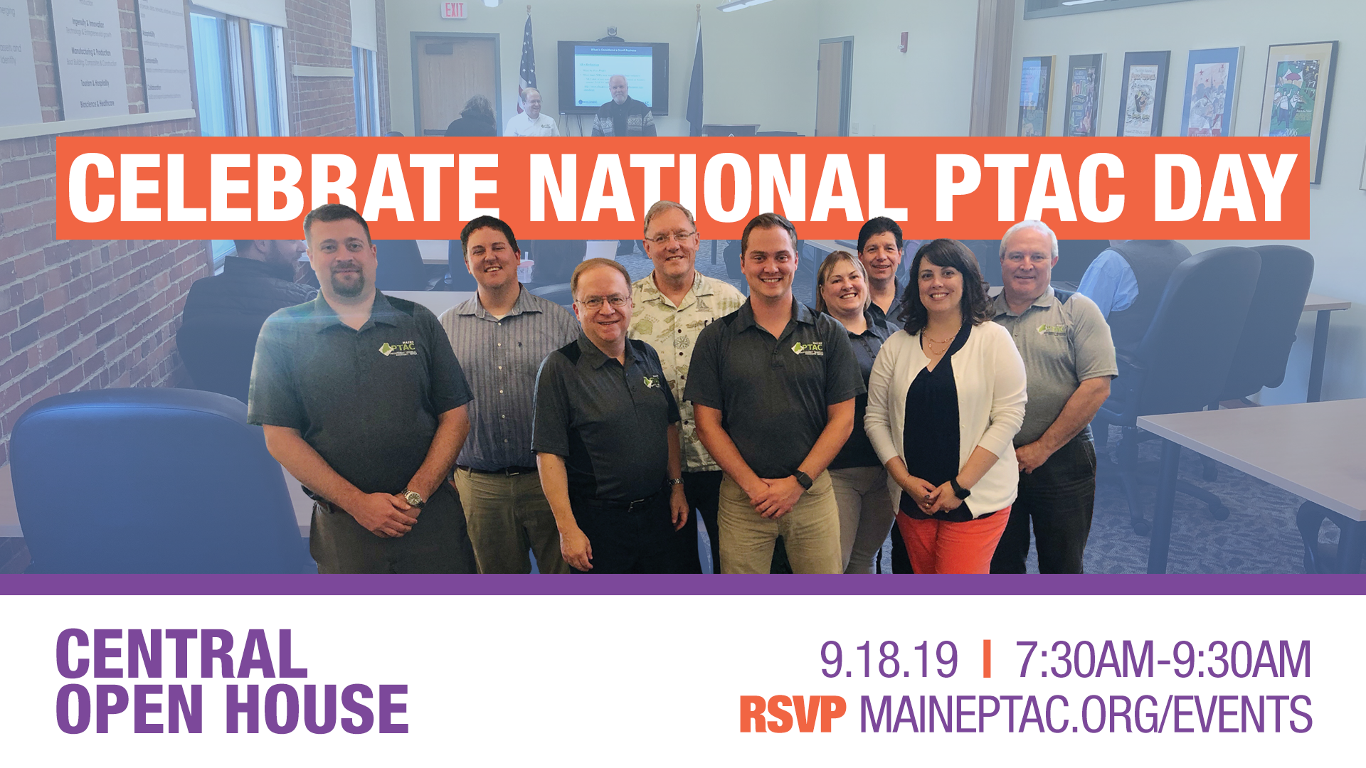 Maine PTAC team hosts central open house 9/18