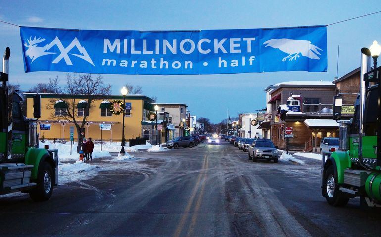 Mud, snow and sleet — and economic impact — with Millinocket Marathon