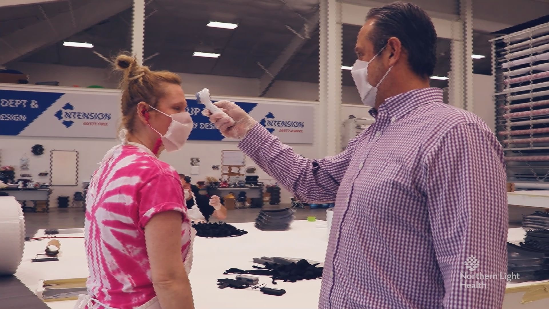 A Hermon company, Ntension, is now making 7000 face masks and shields a day for hospital use during coronavirus, COVID-19 pandemic