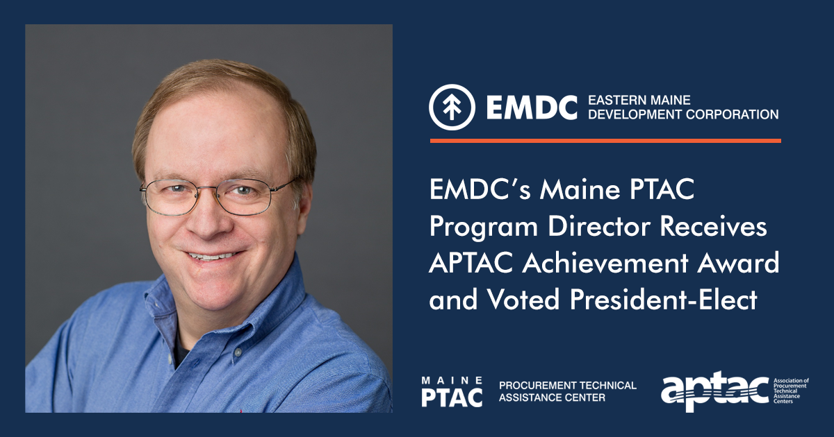 EMDC's Maine PTAC program director receives APTAC Achievement Award
